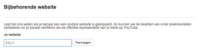 youtube-bijhorende-website