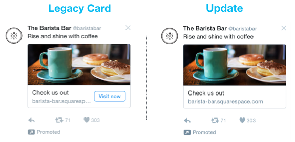 twitter advertising removal cta buttons