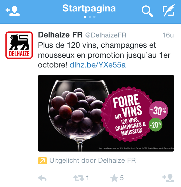 twitter-advertising-voorbeeld-delhaize-FR