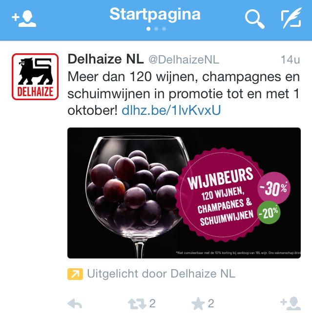 twitter-advertising-voorbeeld-delhaize-NL