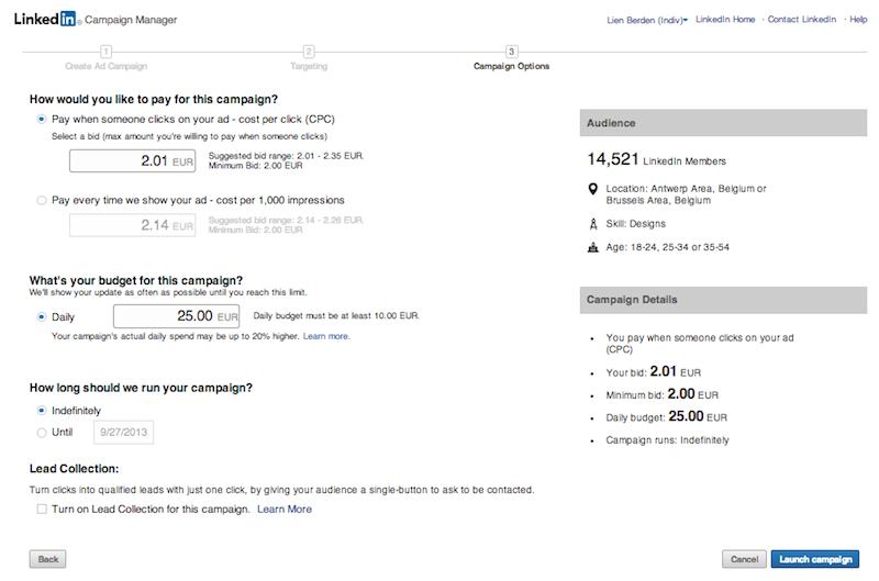 linkedin-advertising-gewone-ads-budget