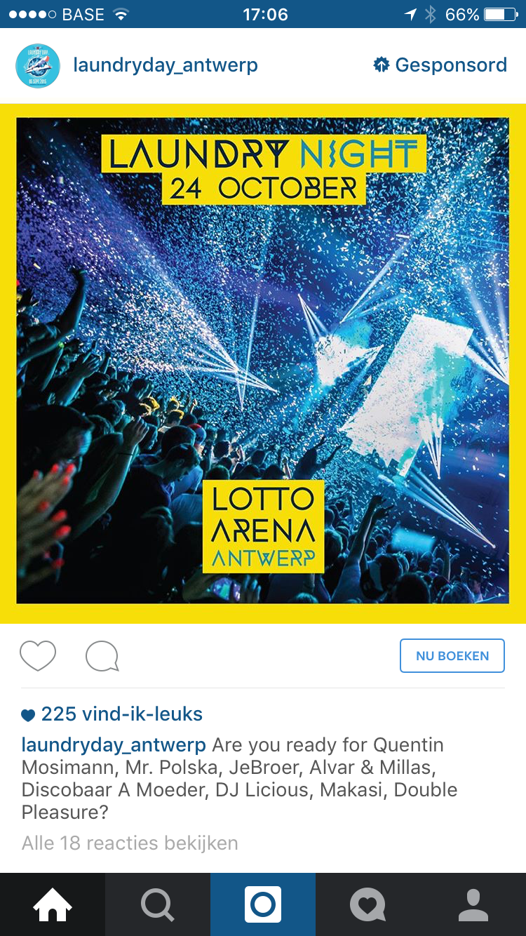 Instagram advertentie Laundry Day anwerpen
