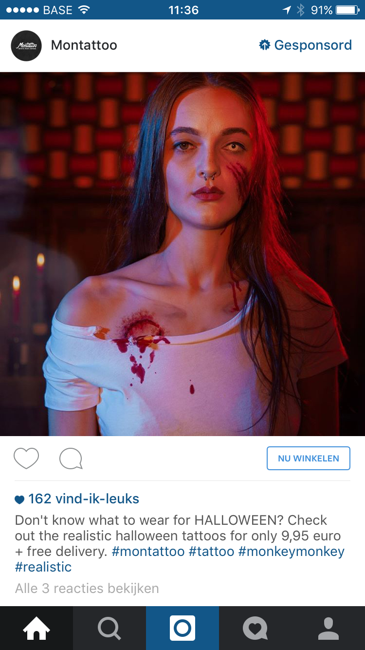 Instagram advertentie mon tattoo
