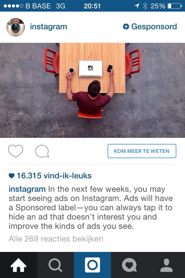 allereerste instagram advertentie