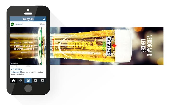instagram advertentie Heineken