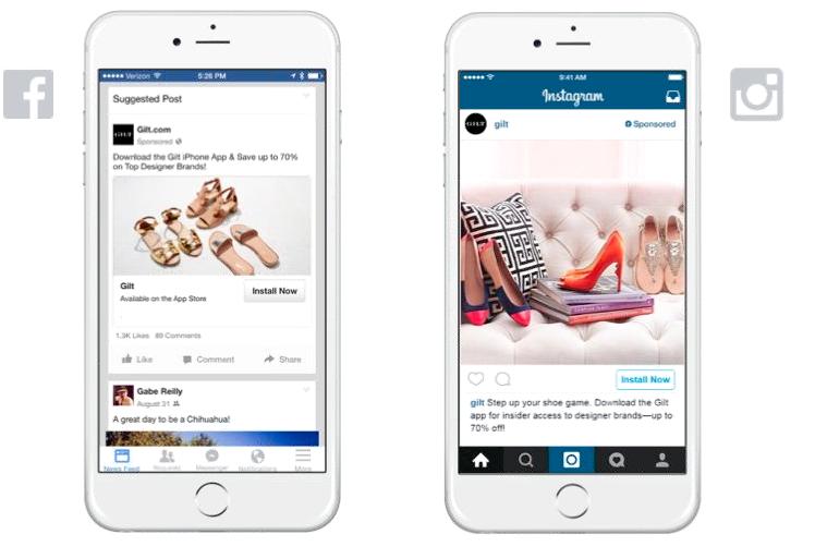 instagram advertising afbeeldingen aangepast aan het platform