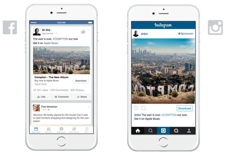 instagram advertising afbeeldingen hetzelfde per platform