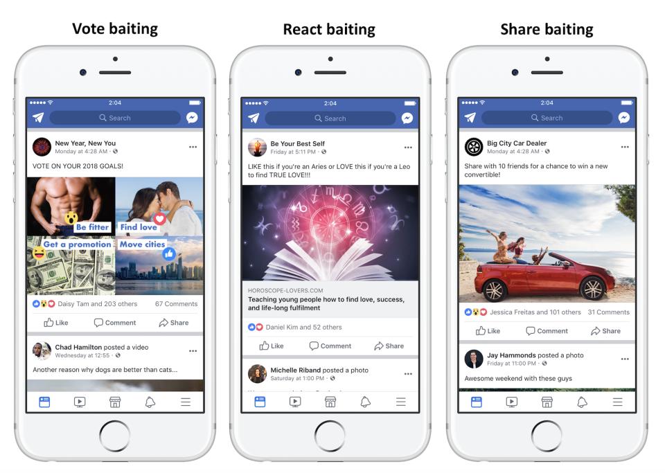 facebook engagement baiting 1